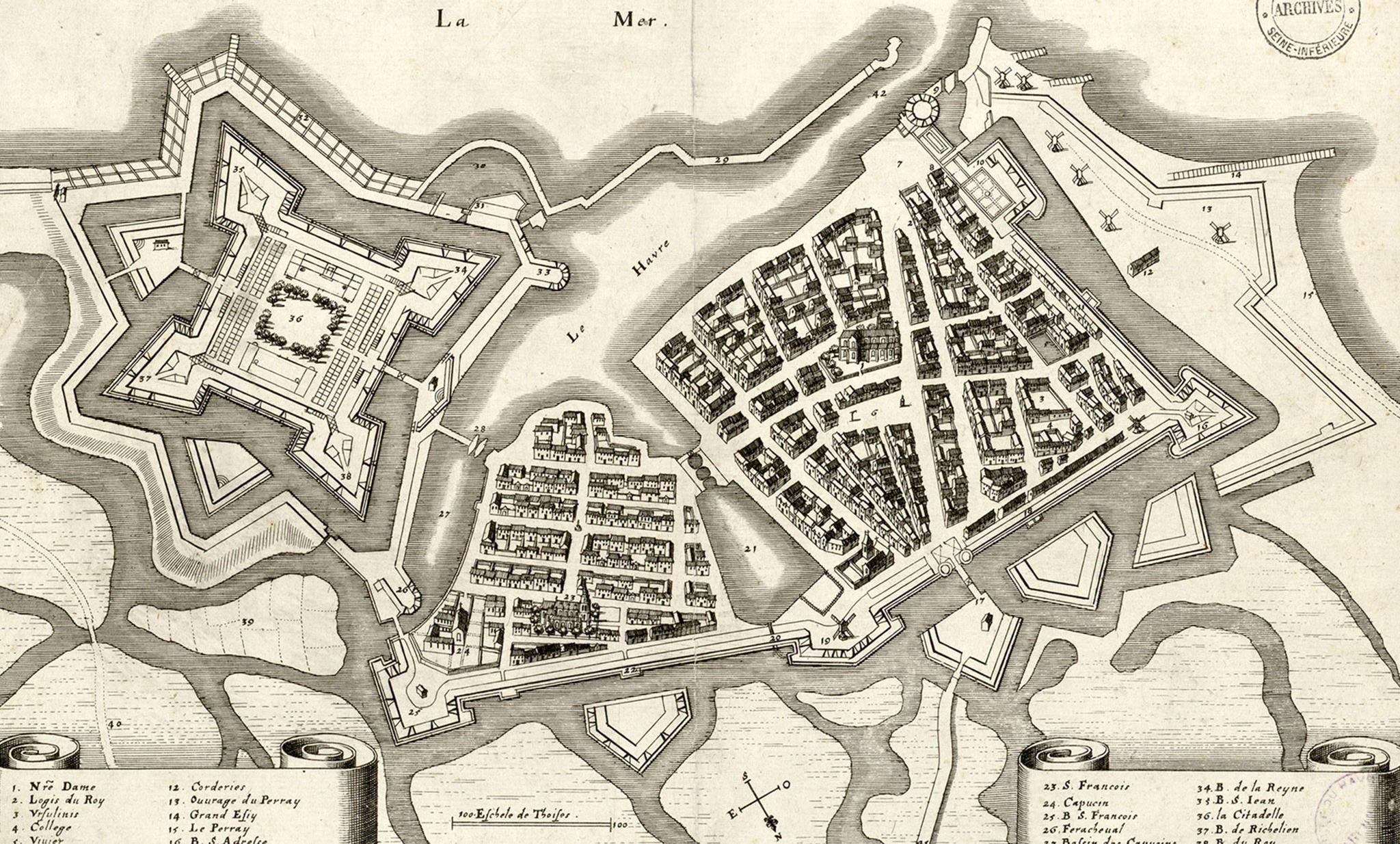 Le Havre en 1657