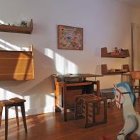 Children's room in the Perret Show-Flat - furniture by Marcel Gascoin.