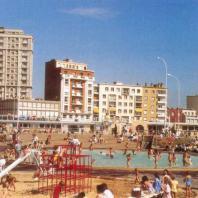 La Porte Océane depuis la plage, années 70