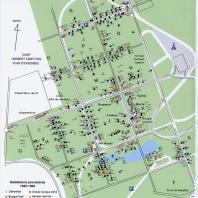 Carte des habitations provisoires à la forêt de Montgeon