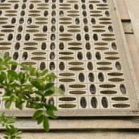 Détail architectural du collège Raoul Dufy