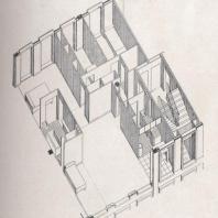 Plan de l'appartement type, 1947.