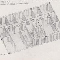 Etudes de plan d'appartement, 1947.