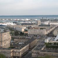 vue générale de la rue de Paris