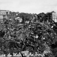 After the bombings.: between Rue de Metz and Rue de Toul.