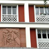 Bas-relief d'un immeuble de l'avenue Foch