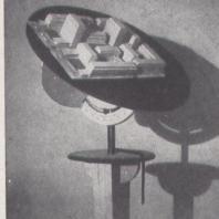 Maquette de modélisation visant à optimiser l'ensoleillement dans les logements, 1946.