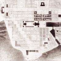 Le plan général, un des premiers plans de la ville en janvier 1946