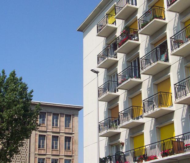 extremite de la façade ouest du V 61
