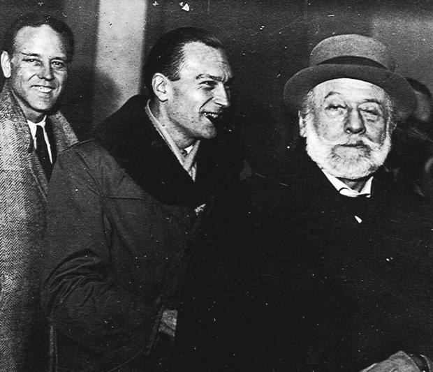 Visite de chantier, Auguste Perret en 1949